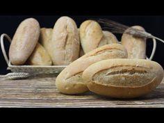 Barras pequeñas de pan frances con y sin masa madre en menos de 90 minutos - YouTube