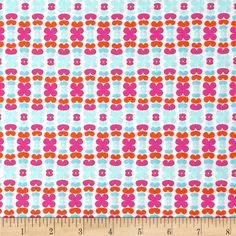 Art Gallery Color Me Retro Kitchenette Raspberry from @fabricdotcom  Designed by Jeni Baker for Art Gallery Fabrics, this cotton print is perfect for quilting, apparel and home decor accents.  Colors include white, hot pink, orange and shades of aqua.  Art Gallery Fabric features 200 thread count of finely woven cotton.