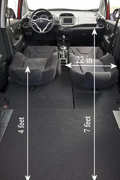 Honda Fit / Jazz. Interior Dimensions