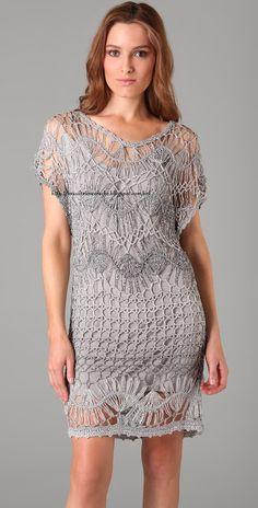 Brasil Tricô & Crochê   -    Handmade: Vestido prata grampo