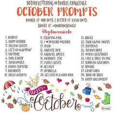 Doodle/Lettering Challenge: October 2015