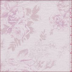Ivory background with a dusty mauve, blush pink and pale cocoa brown floralprint from Shabby Chic's English Garden Collection. This medium weight fabric pure linen fabric is laundered.Compare to $40.00/yd