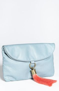 Tulu 'Scarlett' Faux Leather Clutch available at #Nordstrom