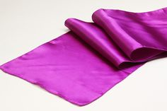 Satin Table Runner - Magenta Violet ● As Low as $1.49 ● Available from www.cvlinens.com