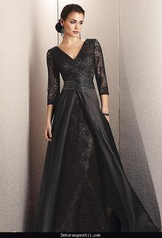 nice Siyah beyaz abiye elbise modelleri 2016