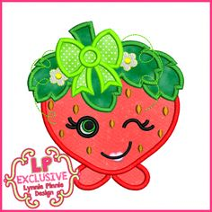 See It All - Cutie Kawaii Strawberry Applique 4x4 5x7 6x10 7x11 SVG - Welcome to Lynnie Pinnie.com! Instant download and free applique machine embroidery designs in PES, HUS, JEF, DST, EXP, VIP, XXX AND ART formats.