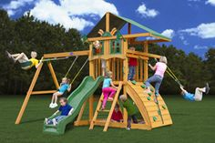 Cartecay Redwood and Cedar Wood Playset - Playsets from PlayNation