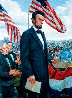 Gettysburg Address by Abraham Lincoln - 1000 pieces. Art by: Mort Kunstler.