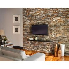 Native Custom Stone Go-Stone #26 Cherokee Flats 4 in. x 8 in., 4 in. x 12 in., 4 in. x 16 in. Stone Panels (5 sq. ft./Box)-855339004027 - The Home Depot