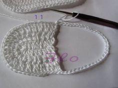 Luty Artes Crochet: pap de sapatinho de bebê.