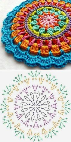 Crochet Pokeball - Crochet: Punto Piña # 3 - Love Crochet Crochet Pokeball - Crochet: Punto Piña # 3 - Love Crochet,Häkeln Crochet Christmas – How to für absolute Crochet Christmas – How to für absolute Motif Mandala Crochet, Crochet Circles, Crochet Motifs, Crochet Diagram, Crochet Chart, Crochet Squares, Love Crochet, Crochet Granny, Diy Crochet