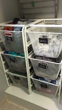 Ikea organizing, baskets same size as laundry basket