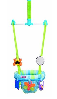 The Sassy Seat Doorway Jumper and 5 Toys for Babies from Baby Girls and Boys on the Jumpers and Bouncy Swing Seats Baby Door, Baby Bouncer, Baby Mine, Baby Swings, Developmental Toys, Ride On Toys, Everything Baby, Infant Activities