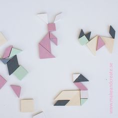 Tangram- KylskåpspusselTangram är en sorts kinesiskt geometriskt pussel där man bygger figurer av bitar som har olika geometriska former. Ett roligt sätt att dels lära sig de olika...