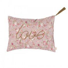 Coussin fleurs liberty rose imprimé Love Numéro74