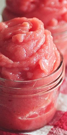 5-Minute Watermelon Strawberry Sorbet