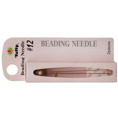 Bendable and flexible, yet much stronger than many other needles. Tulip beading needles have a slightly rounded tip which prevents the piercing the thread.