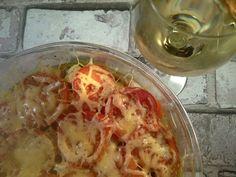 Snelle visschotel met groente en kaas