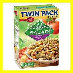 Suddenly Pasta Salad Classic BettyCrocker Com. Chicken Pasta Salad With Grapes And Poppy Seed Dressing . Cooked Shrimp Recipes, Pasta Salad Recipes, Suddenly Salad Classic Recipe, Suddenly Pasta Salad, Pasta Salad With Spinach, Homemade Sour Cream, Canning Sweet Corn, Bacon Dishes, Betty Crocker