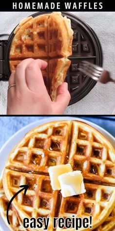 Best Waffle Recipe, Waffle Maker Recipes, Best Belgian Waffle Recipe, Waffles Recipe For One, Easy Crispy Waffle Recipe, Sandwich Maker Recipes, How To Make Waffles, Belgian Waffle Maker, Homemade Waffles