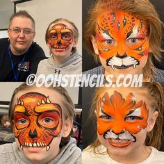 Face Painting Designs, Paint Designs, Tiger Face Paints, Cat Face, Halloween Face Makeup, Cats, Gatos, Kitty, Cat
