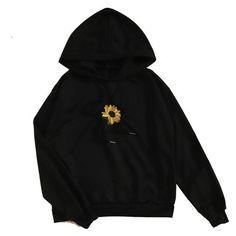Hoodie Outfit - Sunflower Hoodie Sunflower Hoodie The Bigchartel Pullover Hoodie, Hoodie Jacket, Sweater Hoodie, Hoody, Polyvore Outfits, Mode Outfits, Fashion Outfits, Tomboy Outfits, Punk Fashion