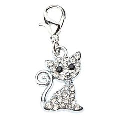 Dog+tags+Rhinestone+Decorated+Lovely+Cat+Style+Collar+Charm+for+Dogs+Cats+–+USD+$+1.99