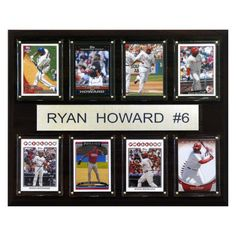 MLB 12 x 15 in. Ryan Howard Philadelphia Phillies 8 Card Plaque - 1215HOWARD8C