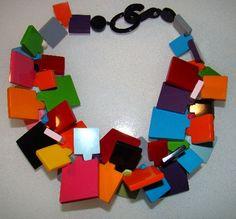 French Art Moderne necklace. Paris.