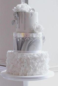39 Black And White Wedding Cakes Ideas ❤ black and white wedding cakes tender cake theconfetticakery #weddingforward #wedding #bride