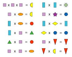 multiplications using shapes