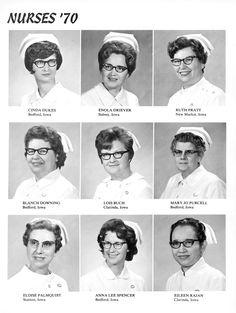 Nurses '70 Ein absolutes Muss und auch beim besten Willen nicht zu diskutierender Punkt, neben dem tatenlosen polizeilichen Führungszeugnis, dem lückenlosen Fehlstundenkontos gerechnet seit dem Kindergarten, war im Jahre 1970 das Tragen einer Cateye-Brille, um in Iwoa überhaupt eine minimalistische Chance auf einen Ausbildungsplatz zur Krankenschwester zu haben.