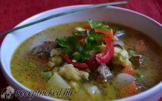 Raguleves zöldfűszeres galuskával recept fotóval