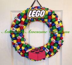 LEGO Themed Ribbon Wreath by AmandasCreations11 on Etsy