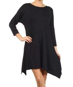 Black Sidetail Tunic #zulily #zulilyfinds