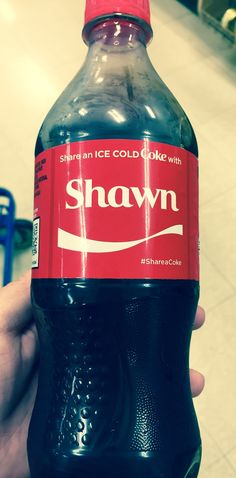 Share a Coke with Shawn?..... Hell yea I will!!!