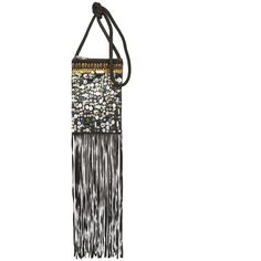 Topshop Holi Festival Fringe Cross Body Bag ($44) ❤ liked on Polyvore featuring bags, handbags, shoulder bags, black, leather shoulder handbags, leather crossbody purse, leather fringe purse, leather crossbody handbags and fringe handbags