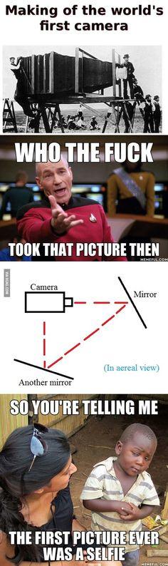 So it was a selfie?