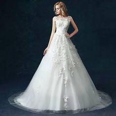 A-line Wedding Dress - White ...