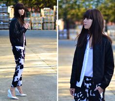 Cow print in action (by Lucy De B.) http://lookbook.nu/look/4669441-Cow-print-in-action