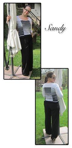Sandy I Nicki's Kreativseite Nach einer Anleitung von Marie Wallin Suits, Knitting, Fashion, Monochrome, Breien, Moda, Tricot, Fashion Styles, Suit