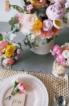 Peonies, poppies, and ranunculi
