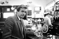 William McIlvanney has a drink in Clark's bar in Edinburgh, January 1989. Picture: TSPL