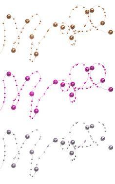 La Guirlande de Décoration Perles articulée. Décorez votre évènement grâce à mariage.fr, numéro 1 des boutiques de décoration mariage en France. décoration mariage, decor mariage, wedding, argent, silver, rose, pink, marron, brown