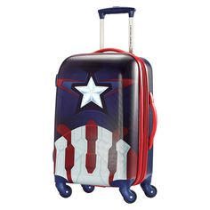 e7070aa65f American Tourister Captain America Hardside Spinner Luggage - Red/black  (21), Equipaje