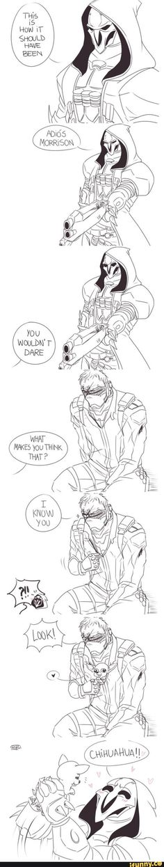 Reaper and soldier 76 funny talking.#overwatch #game #cosplayclass #costume