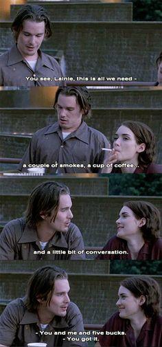 Troy & Lelaina  Ethan Hawke, Winona Ryder  Reality Bites (1994)