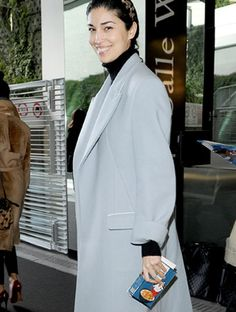 Caroline Issa wears the Imperial Frosties at Paris Fashion Week