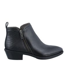 e29410fff This zip-up ankle boot features a smooth texture, modest heel and sleek  style for a comfortable fit.