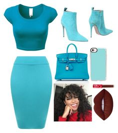 """""""Job Interview"""" by maniyah-shay ❤ liked on Polyvore featuring WearAll, Gucci, Hermès, Casetify and Lime Crime"""